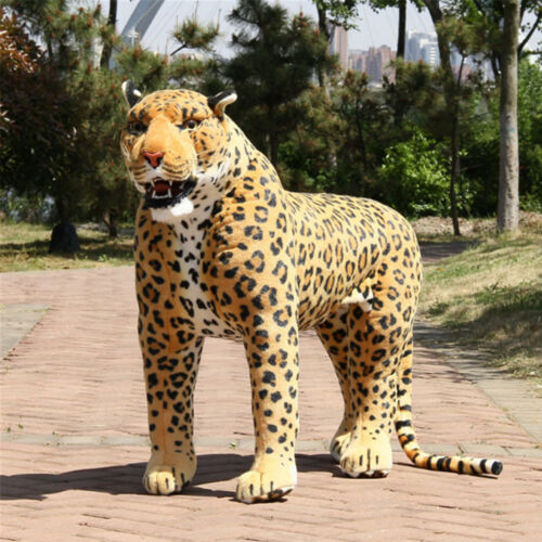 110cm Huge Prestige Simulated Animal Leopard Plush Toy Giant  Panther Doll