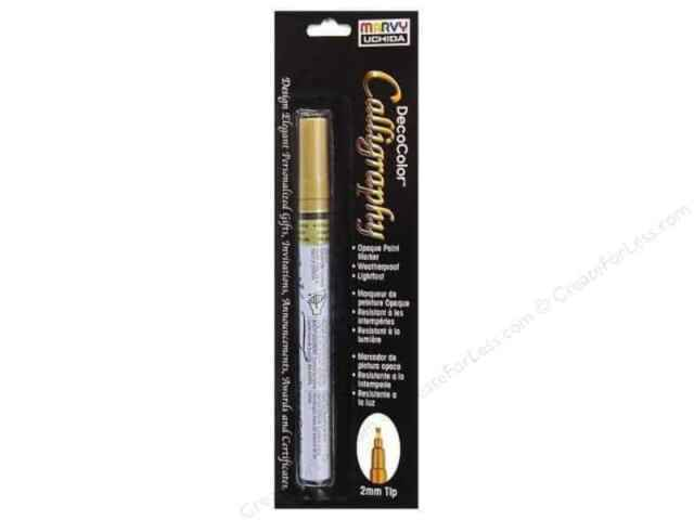 Decocolor Calligraphy Opaque Paint Marker 2mm-gold