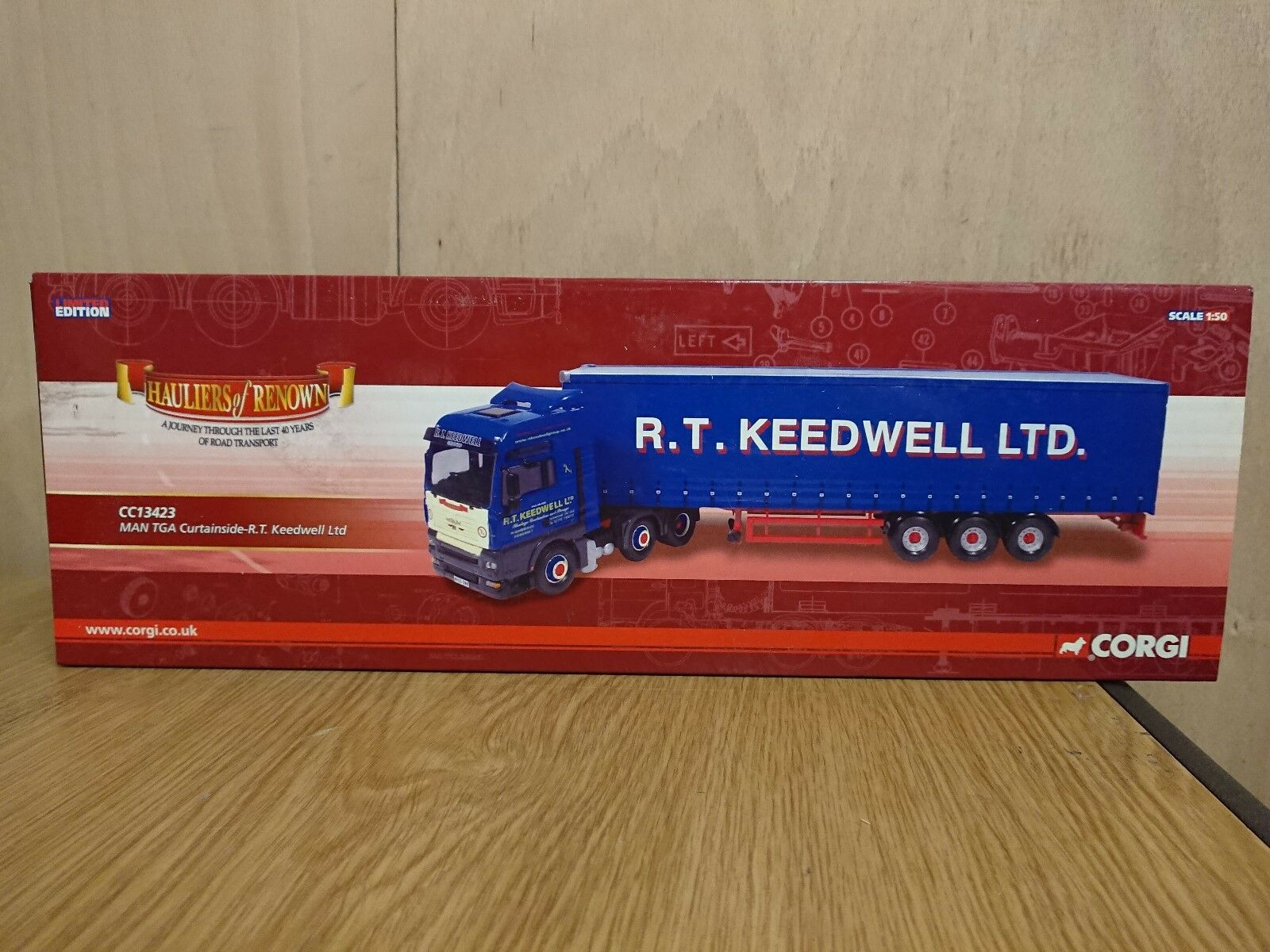 Corgi CC13423 MAN TGA Curtainside R.T. Keedwell Ltd Edition No 0039 of ONLY 1210