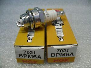 2-x-NGK-BPM6A-7021-Standard-Spark-Plug