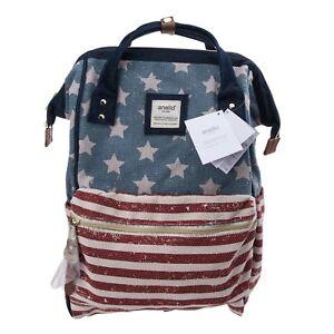 Anello Orange Pink Japan Unisex Fashion Backpack Rucksack Diaper Travel Bag