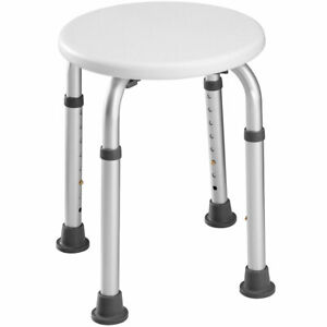 Sgabello Alluminio Doccia Sedia Vasca Altezza Regolabile Sedile Tondo Da Bagno