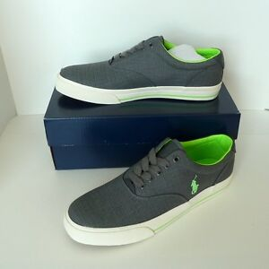 Ralph Shoes Ripstop 129002 Matte Fashion Sneaker Vaughn Men's Polo Grey Details About Lauren EDYW2H9I