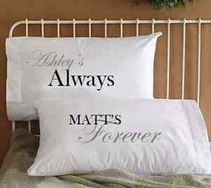 Image Is Loading Personalized Name Couple Pillowcases Cool His Amp Her