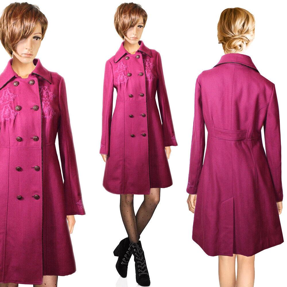 NOA NOA Eleganter Wolle-Optik Mantel Tailliert Figurbetont Knielang NEU Gr.36 S | Hohe Qualität und Wirtschaftlichkeit