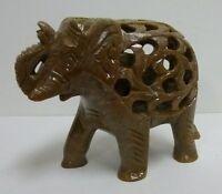 Hand Carved Undercut Stone Animal Choice Good Luck Figurine Baby Inside Cut