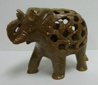 Hand Carved Undercut Stone Animal Choice Good Luck Figurine Baby Inside Cut