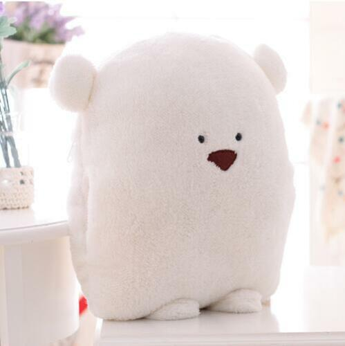 fat bear plush toy cushion hand warm soft lovely doudou bear father and son 1pc