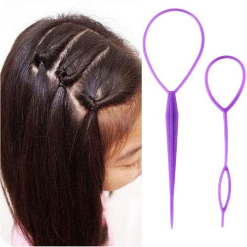 Girls Magic Hair Braiding Curler Needle Ponytail Tool Hair Styling Set UK