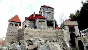 Gartenburg selber bauen! 250 Ruinen Burg Bausteine