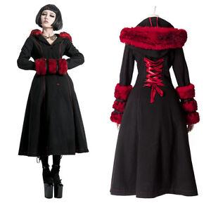 Manteau-d-039-hiver-gothique-punk-lolita-cyber-reversible-fourrure-corset-Punkrave