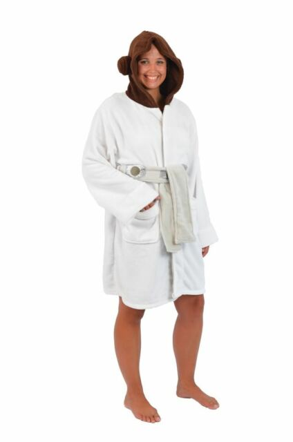 Buy Star Wars Princess Leia Womens Fleece Bathrobe   Swim Suit Cover ... aaedebb9b