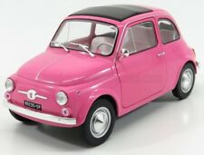 Solido 1969 Fiat 500 L in Pink  1:18 Scale Diecast S1801402 New in Box