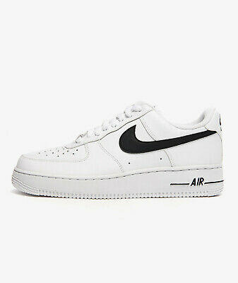 SCARPA NIKE AIR FORCE 1 07 AN20 CJ0952 100 UOMO BIANCA NERA | eBay