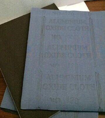 120 GRIT ALUMINUM OXIDE ABRASIVE CLOTH 50 PIECES **NEW**  1051016
