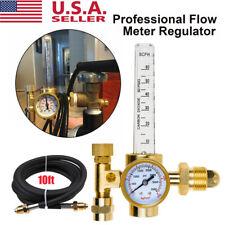 Argon Flow Meter Regulator Mig Tig Welding Gas Welder Gauge With 10ft Gas Hose