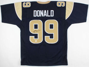 official photos e50f7 ad64d Details about Aaron Donald Los Angeles Rams Signed Jersey / 4×Pro Bowl Def  End(2014–2017) JSA