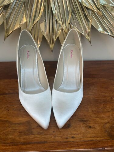 "Rainbow Club /""Vivian Ivory Satin bridal shoes UK8//41"
