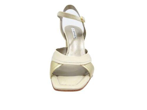 Via Spiga Womens Brass Open Toe Buckle Ankle Strap Casual Heels Dress Shoes