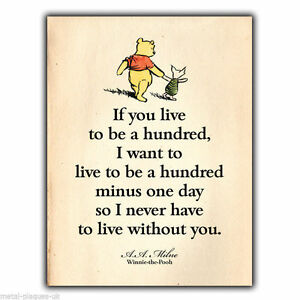 Image Is Loading Metal Sign Wall Plaque Winnie The Pooh A