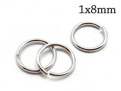 Vermeil-18k Gold Plated Over Sterling Silver Open Jump Rings 22ga 6mm 20pcs