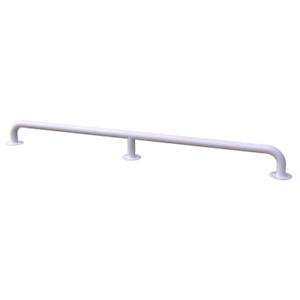 Handlauf für barrierefreies Bad 130 cm weiß DN 32 mm