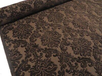 Luxury Cream Ivory Heavyweight Plain Chenille Upholstery Velvet Curtain Fabric