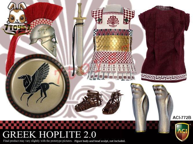 ACI Toys 1 6 Power Set Greek Hoplite 2.0_ Loose Set B _Warriors Ancient AT100XX