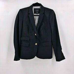 J-Crew-Womens-Schoolboy-Blazer-Jacket-Size-4-Jacket-Black-Wool