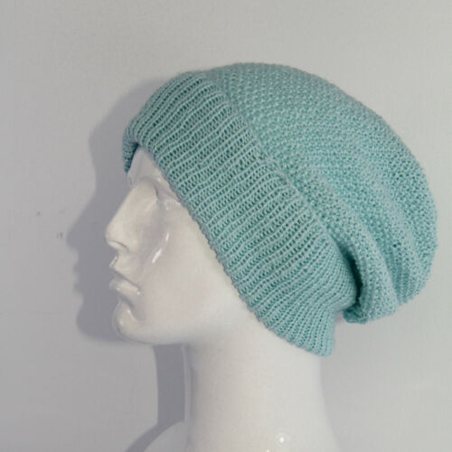 PRINTED INSTRUCTIONS-4 PLY UNISEX MOSS ST SLOUCH HAT CIRCULAR KNITTING PATTERN