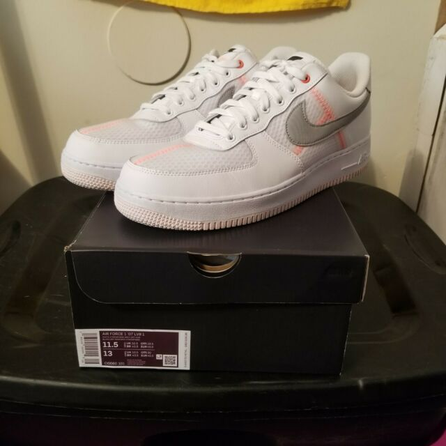 Nike Air Force 1 Mens Size 11 Shoe Low Transparent White Grey