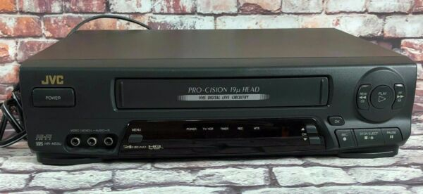 In Staat Jvc Hr-a53u Hifi Stereo Video Cassette Recorder Vcr W/manual And 1 Random Tape Online Korting