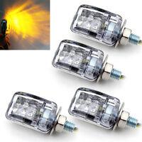 4x Mini 6 LED Turn Signal Blinker Indicator Light Amber For Most Motorcycle Bike