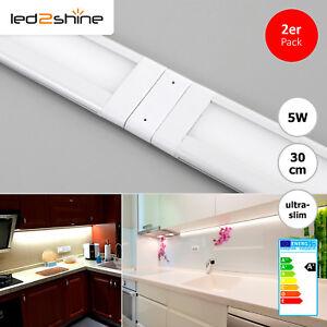 SET 2x LED Leuchte Unterbauleuchten 5W 30cm warmweiß Schrankleuchte ...