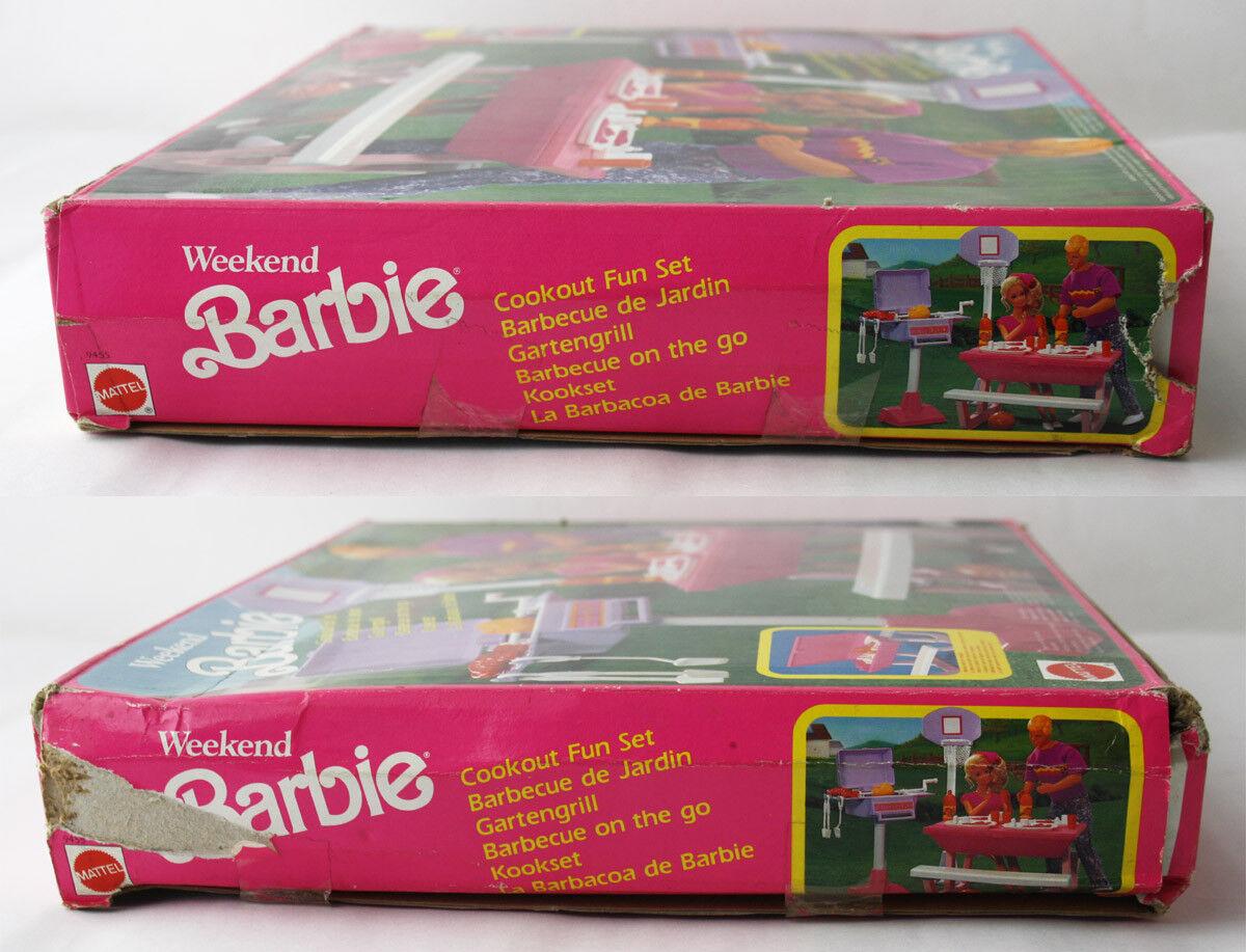 RARE VINTAGE 1991 BARBIE BARBIE BARBIE COOKOUT FUN SET BARBEQUE ON THE GO MATTEL NEW SEALED bd6326