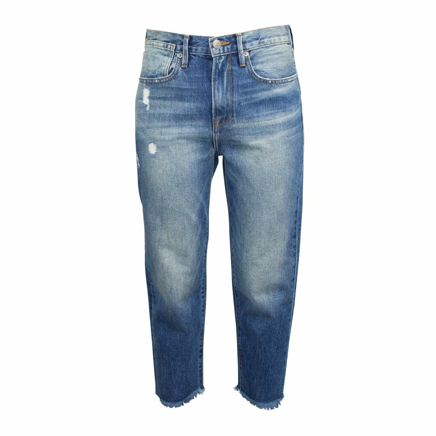 Frame New With Tags Le Stevie Crop Jeans - Harbor Harbor