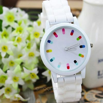 2014 New Fashion Ladies Women's Jelly Silicone Quartz Waterproof Wrist Watches