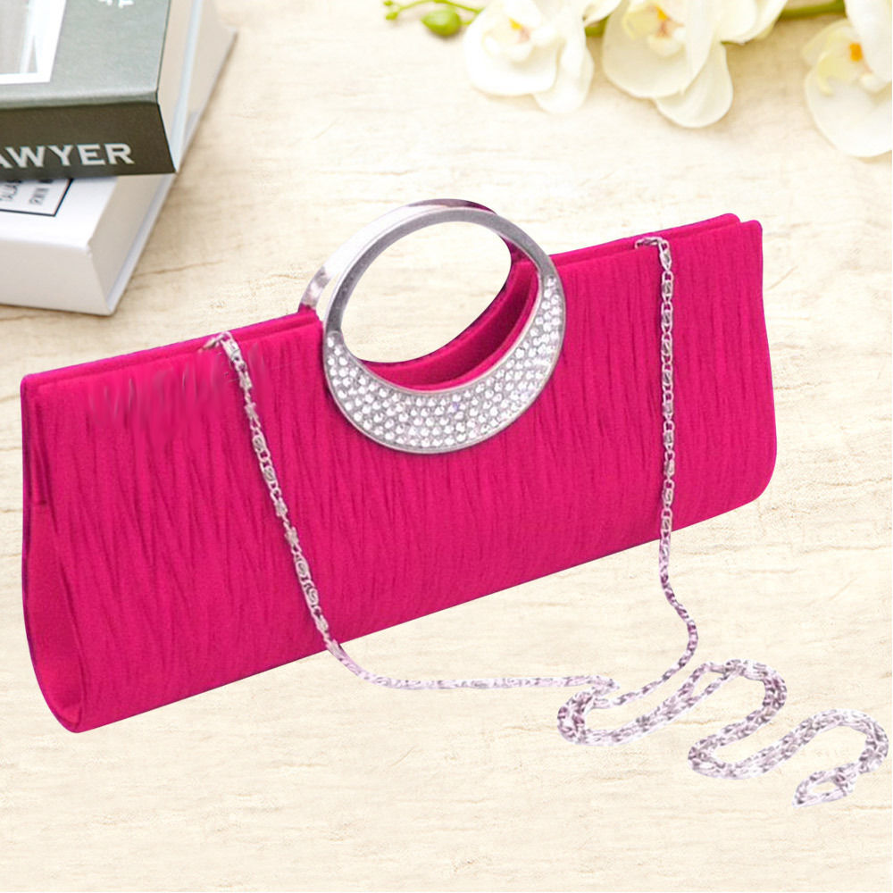 Vincenza Women Crystal Diamante Evening Party Clutch Bridal Purse Ladies Bag UK
