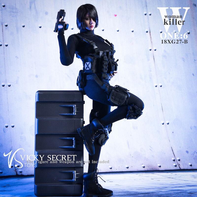 VSTOYS 18XG27B 1/6 Woman Killer Combat Clothes Set Fit 12  PHICEN Body