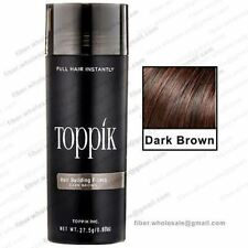 New Toppik Hair Building Fibers 27.5 Gms Dark Brown Color!