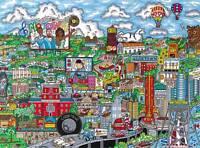 Charles Fazzino Jigsaw Puzzle Make It Detroit 3d Pop Art 1000 Pcs