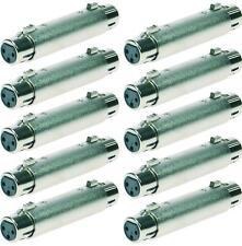 10x Adapter XLR 3-pol Kupplung / XLR 3-pol Kupplung female 3-polig Verbinder NEU
