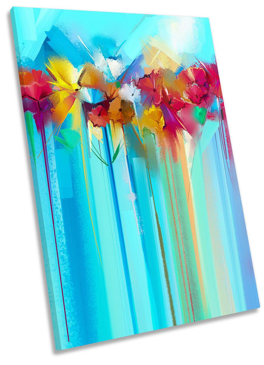 Obras de arte de Parojo Parojo Parojo De Lona Azul Flores Moderno Arte Retrato de impresión 6a14b9