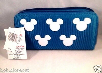 Disney Parks Exclusive Mickey Mouse Icon Blue Turquoise Credit Card Wallet