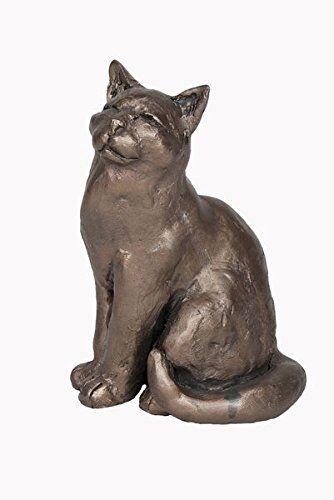 Frith Sculptures Ellie Cold Cast Bronze Sitting Cat