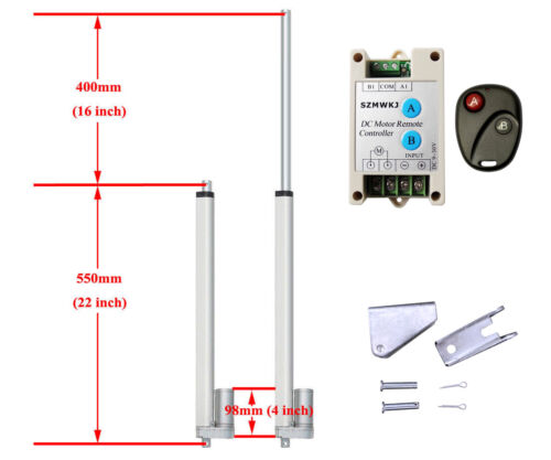 """Remote Controller Auto Lift US 1500N Linear Actuator 2/""""-18/"""" 12V Electric Motor"""