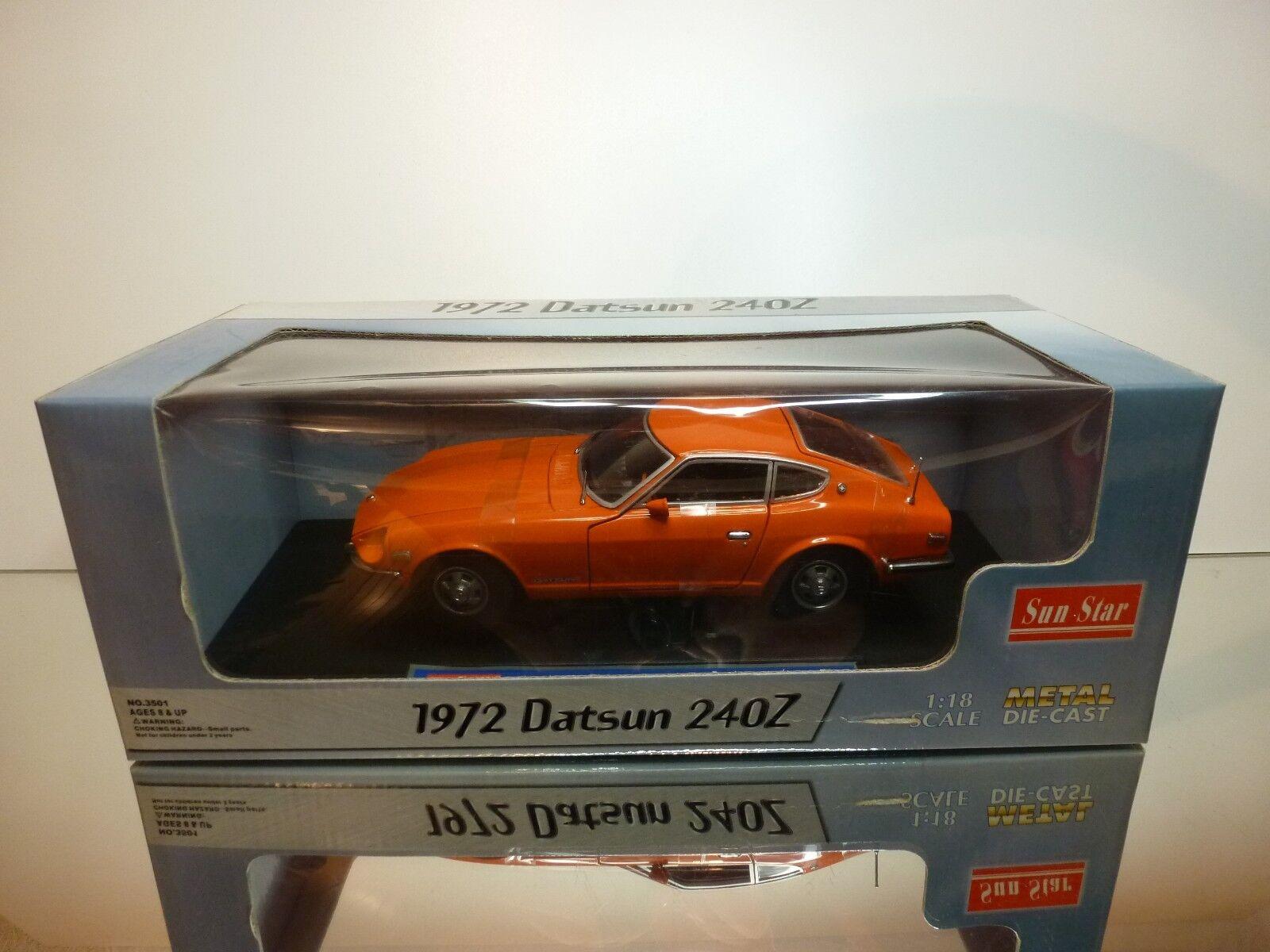 SUNSTAR 3501 DATSUN 240Z 1972 - arancia 1 18 - EXCELLENT IN BOX
