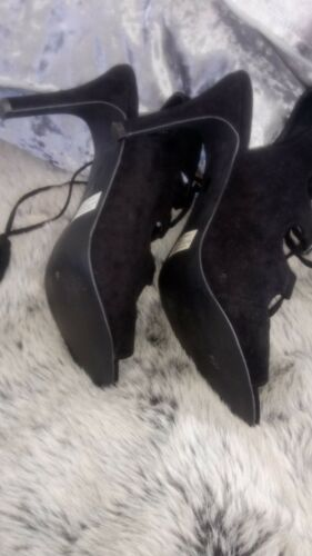 Fiore And Sandals Suede Size Matalan Black 6 From Tie Tassel Xx0rHX4