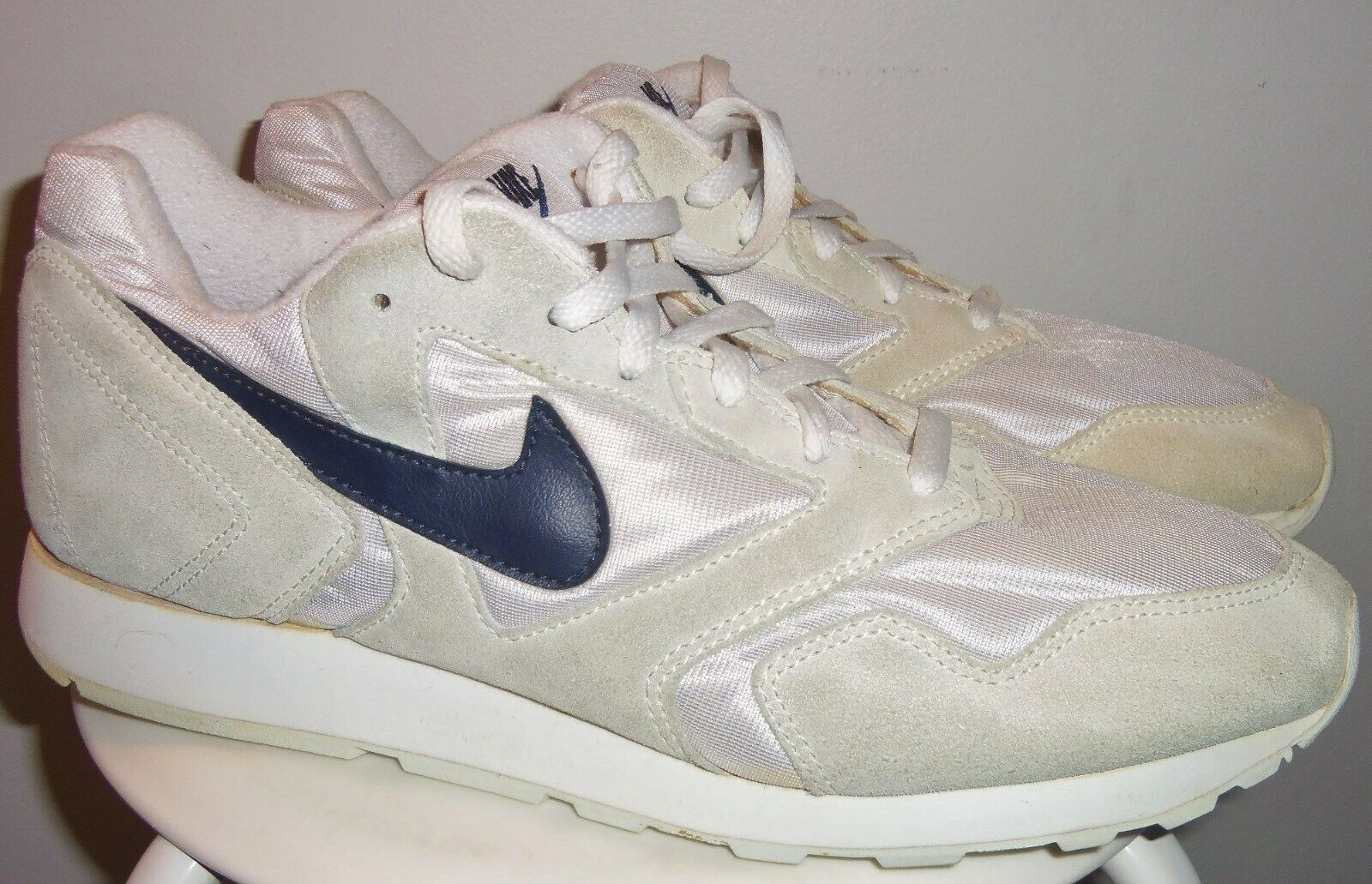 VTG 1993 NIKE DECADE HEAVENS GATE (WHT  NVY) FOLLOW ME RUNNING SHOES 13 (90's)