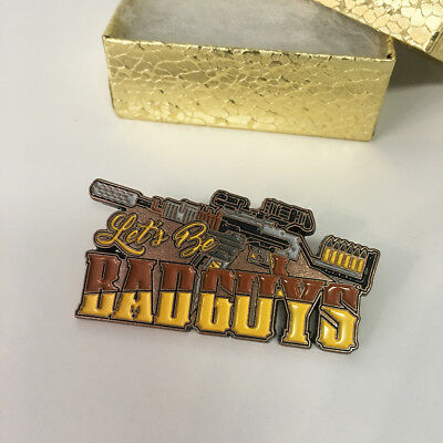 Let/'s Be Bad Guys Lapel Pin Loot Cargo Crate #2 JAYNE May 2016 Qmx Exclusive New
